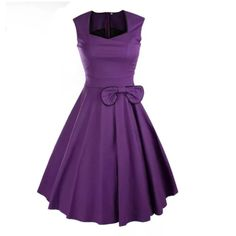 """This is a brand new lovely retro inspired dress. Made of a cotton blend, has a zipper in back, a decorative bow tie in front, and is knee length.    Available on US sizes 6 - 16.    This item ships to US addresses only.     Measurements are as follows:    Small, US 6 - 8, Bust 31"""" 34"""", Waist 26""""    Medium, US 10, Bust 34"""" - 35"""", Waist 28""""    Large, US 12, Bust 35"""" - 37"""", Waist 30""""    XLarge, US 14, Bust 37"""" - 39"""", Waist 32""""    2XLarge, US 16, Bust 39"""" - 41"""", Waist 34"""" 
