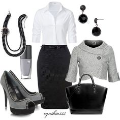 For an extra dressy day at the office, created by cynthia335 on Polyvore