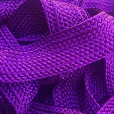 Galon, ruban sfifa marocaine, tissé en fil de soie violet violette