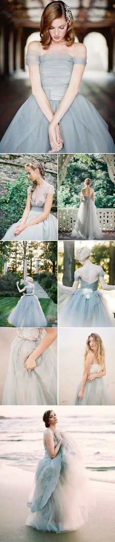 grey wedding dresses