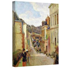 Amazon.com: Art Wall 'A Suburban Street' Gallery-Wrapped Canvas Artwork by Paul Gauguin, 44 by 36-Inch: Oil Paintings