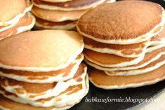 pancakes pankejki ciastka z patelni amerykańskie naleśniki babkawformie.blogspot.com Pancakes, Breakfast, Foodies, Live, Morning Coffee, Crepes, Griddle Cakes, Pancake, Morning Breakfast