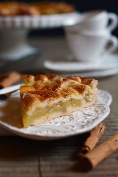 Crostata di mele alla cannella Apple Recipes, Sweet Recipes, Cake Recipes, Dessert Recipes, Granny's Recipe, Torte Cake, Cupcakes, Pie Dessert, Galette