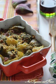 Il suo strato filante e la crosticina croccante vi conquisteranno #carciofi #patate