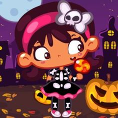 #Halloween is here! And that means #apple #bobbing, #pumpkin #carving, #scaring the #neighbors and lots of #free #candy in this #girls #arcade #game!