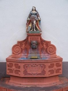 Ettlingen, Germany: Albstrasse: Harlot Fountain (middle of 16th century, renovated 1804)