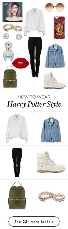 """""""Sans titre #2058"""" by amandine-collet on Polyvore featuring Timberland, MM6 Maison Margiela, Y's by Yohji Yamamoto, Gap, Linda Farrow, Marc Jacobs, Lime Crime and Henri Bendel"""