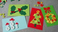 Vánoční přáníčka zdobená knoflíčky pro štěstí Noel