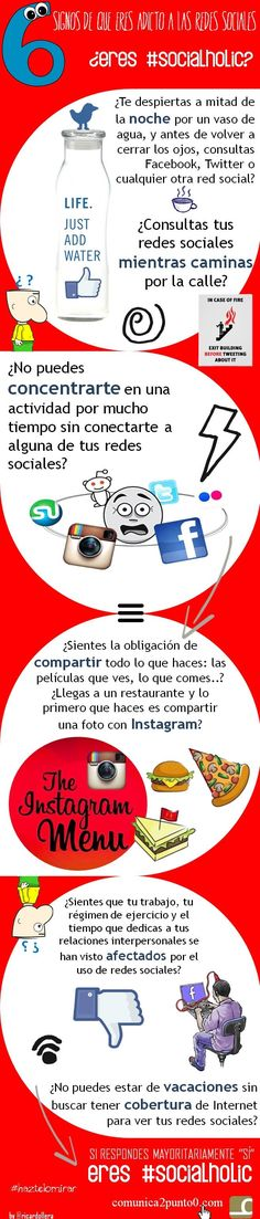 6 signos de que eres adicto a las redes sociales: ¿eres #socialholic? vía @Ricardo Llera