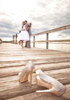 Wharf wedding photo