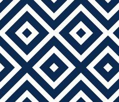 Navy Diamond 2 fabric by mgterry on Spoonflower - custom fabric