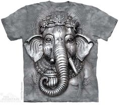 Men and women 100% cotton 3D t shirt THE*MOUNTAIN Big Face Ganesh short sleeve t-shirt #camiseta #starwars #marvel #gift