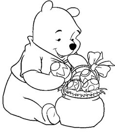 Pooh Easter Eggs Disney Coloring Pages