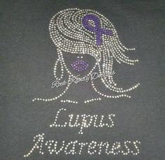 Lupus Awareness Rhinestone Tee by KandyCoat on Etsy