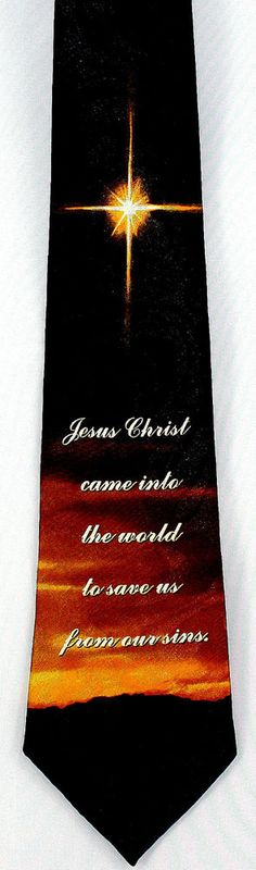 e7eae2217a33 Christmas Dove Mens Necktie Religious Christian Holiday Gift Black Neck Tie  | eBay