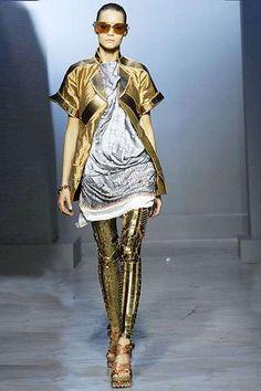 Gold C-3PO Leggings  Balenciaga's Futuristic Fashion