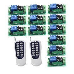 51.99$  Watch here - http://ali4yh.shopchina.info/go.php?t=32797754158 - New DC9V 12V 24V 10A Relay 1CH Wireless RF Remote Control Switch 12CH Transmitter Receiver 315MHz 433Mhz Remote Controller 51.99$ #aliexpress