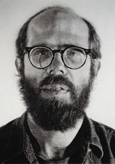 Self Portrait - Chuck Close, 1976-77. Watercolor on paper on canvas