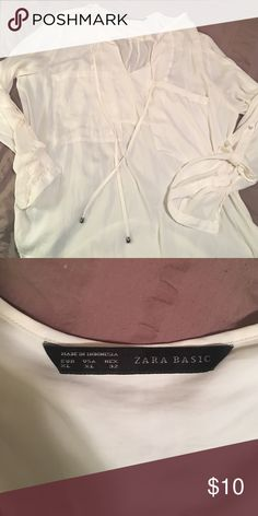 Zara Cream Blouse Zara Cream Blouse! Worn once! Zara Tops Blouses