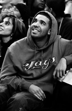 Drake -- even sexier in the Jays Hoodie.. Yum