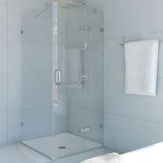 Found it at Wayfair - Monteray 36 x 36-in. Frameless Shower Enclosure with .375-in. Clear Glass and Chrome Hardware