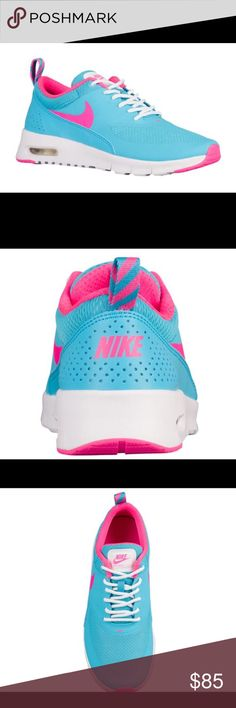🎉🎉Nike air max Thea🎉🎉 NEW never worn Nike air max Thea NEW never worn.... hyper pink with blue and white.... clearly to make a fashion statement!! 👏👏👏😝😝 Nike Shoes Athletic Shoes