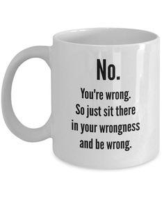 Funny Coffee Cups, Cute Coffee Mugs, Funny Mugs, Funny Gifts, Coffee Mug Quotes, Coffee Humor, Birthday Wishes Funny, Birthday Quotes, Humor Birthday