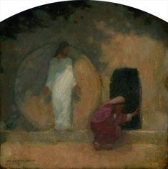 Why seek the living among the dead?  Garden Tomb, Oil on Panel 2011, J. Kirk Richards