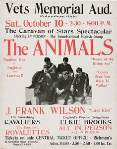 Promo poster for Oct. 1964 concert.