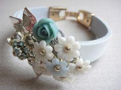 vintage collage bracelet