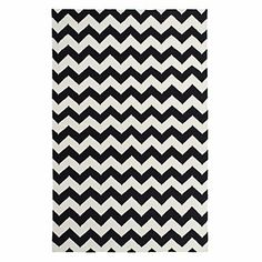 A stylish statement for your feet! Black and White Zig Zag Rug, $249.95 - $499.95 #ZGallerie #chevron