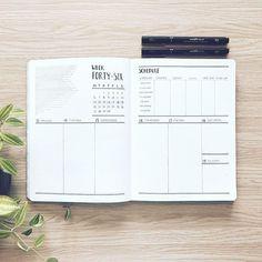 Bullet journal weekly layout, weekly schedule, linear art. @abulletandsomelines
