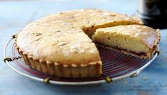 The Hairy Bikers' Bakewell tart (definitely no icing). is best served slightly warm with a dollop of lightly whipped cream. A true British classic. Bakewell Pudding, Bakewell Tart, Tart Recipes, Pudding Recipes, Chef Recipes, Sweet Recipes, Baking Recipes, Dessert Recipes, Baking Tips