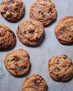 Farro Chocolate-Chunk Cookies @rhondagardner these look like they're right up your alley