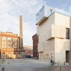 Architectural sketches and motifs are etched across the concrete walls of the Museum for Architectural Drawing in Berlin by Russian architecture collective SPEECH Tchoban/Kuznetsov.