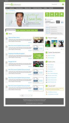 HDL-Intranet by Jason Head, via Behance Sharepoint Design, Sharepoint Intranet, Intranet Design, Web Design Trends, Ux Design, Design Ideas, Intranet Portal, User Centered Design, Employee Handbook