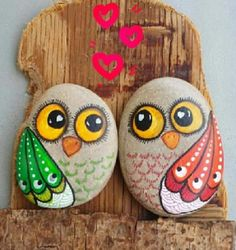 Ideas How To Paint Stones Ideen, wie man Steine ​​malt Painted Rocks Owls, Owl Rocks, Painted Rock Animals, Painted Stones, Pebble Painting, Pebble Art, Stone Painting, Diy Painting, Rock Painting Patterns