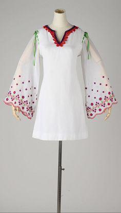 vintage 1960s dress . semi sheer white cotton by millstreetvintage