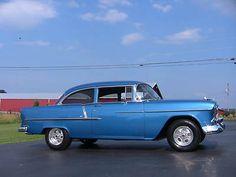 1955 Chevy Belair 2 Dr Post
