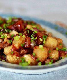 Lechon Kawali con Tokwa (Pan Fried Pork Belly and Tofu)