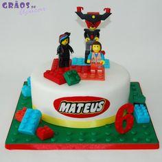 Lego - O Filme - Grãos de Açúcar - Bolos decorados - Cake Design