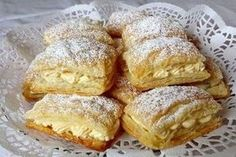 Blätterteigschnitten mit Paradiescreme Puff pastry with paradise cream, a refined recipe with image from the category cake. 4 ratings: Ø Tags: baking, easy, cake, fast Puff Recipe, Puff Pastry Recipes, Puff Pastries, Cheesecake Recipes, Dessert Recipes, No Bake Cake, Food Cakes, Sweet Tooth, Food And Drink
