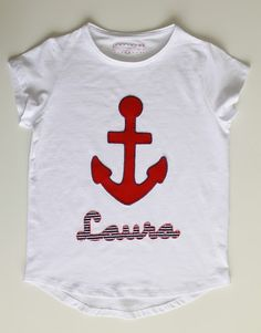 cocodrilova: camiseta marinera para laura #camiseta #marinera #ancla