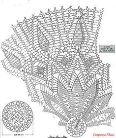Veronica crochet y tricot. Crochet Tablecloth Pattern, Crochet Doily Diagram, Crochet Doily Patterns, Crochet Chart, Thread Crochet, Filet Crochet, Crochet Designs, Crochet Stitches, Knit Crochet