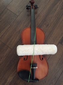 This idea isn't totally new..I've heard of teachers using a variety of tubular objects for students to practice straight bowing...such as to...