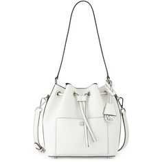 MICHAEL Michael Kors Greenwich Medium Bucket Bag ($298) ❤ liked on Polyvore featuring bags, handbags and shoulder bags