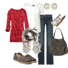 simple winter style- love all of it except the shoes. Would pair with a cute pair of flats though