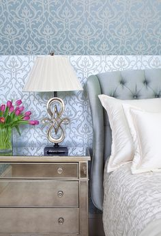 """House of Turquoise: Jennifer Reynolds Interiors out of Atlanta, Georgia - """"this elegant guest bedroom  is a great example of mixing high and low"""""""