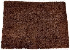 Soggy Doggy Doormat Microfiber Chenille, Large/Mat 26 X (Dark Chocolate No Bone) Super-absorbent, durable, microfiber chenille! The doormats absorb more water than Regular cotton doormats Super Shammy can hold up to its weight in water! Dog Door Mat, Large Mats, Thing 1, Dog Food Storage, Dog Shower, Dog Pin, Dog Shedding, Dog Items, Dog Chew Toys