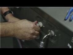 Home Appliances : How to Take off & Put on Hoses for a Washer